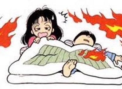 つけ て を 寝る 電気