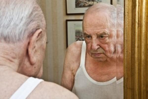 Image result for old man in the mirror