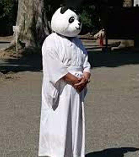 白装束で来いと行ったら顔まで白...