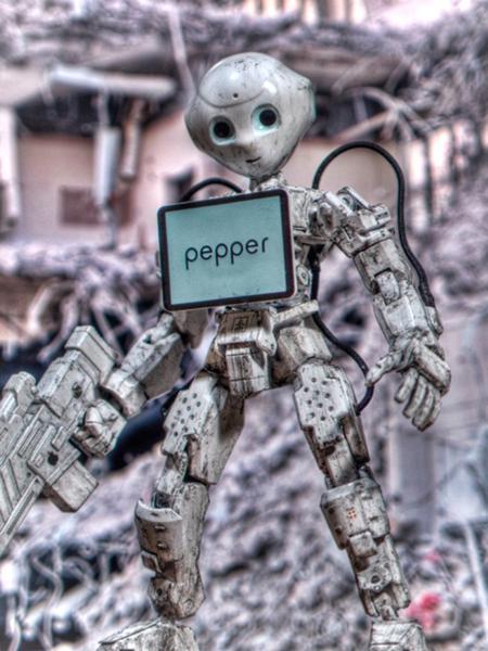 ペッパー軍 - ロボットへのボケ[...