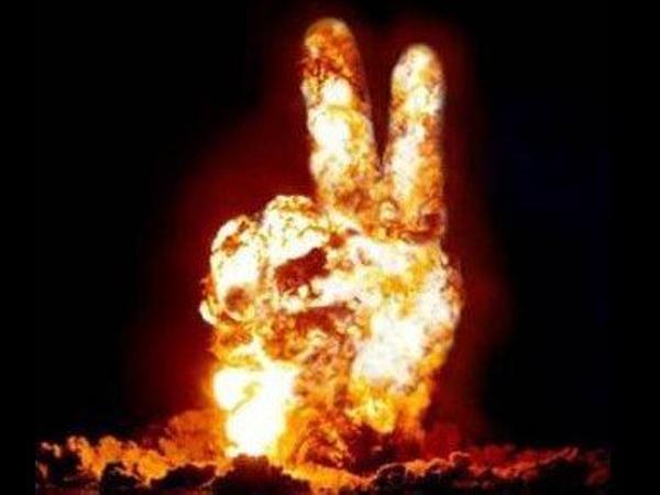 THE 平和的核爆発 - たき火へのボケ[50013007] - ボケて(bokete)